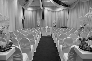 chair covers for a ceremony