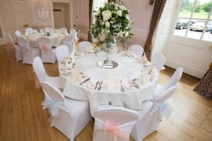 lycra chair covers hand tied bows