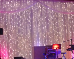 10m drop fairy light curtain