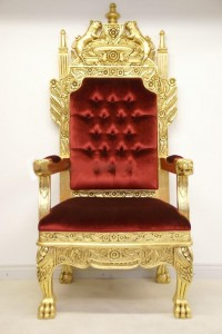 Red and Gold King Throne