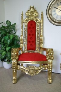 Red and Gold Queen Throne